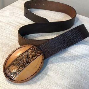 Guess Genuine Leather Eagle Belt